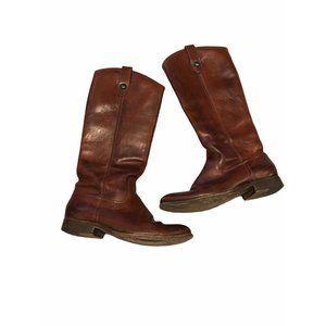 Frye Melissa Button Knee High Riding Boots 6.5 Vin